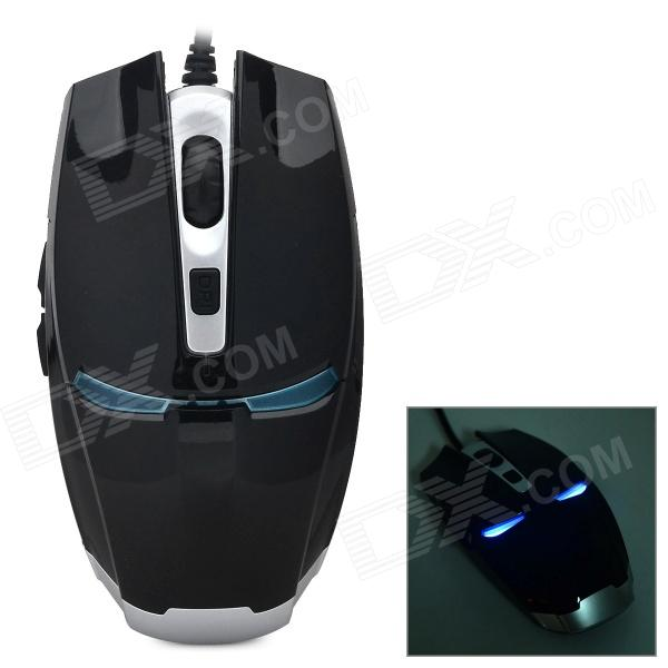 VM0-131 USB 2.0 Wired 800 / 1200 / 1600 / 2400dpi Gaming Mouse - Black + Silver