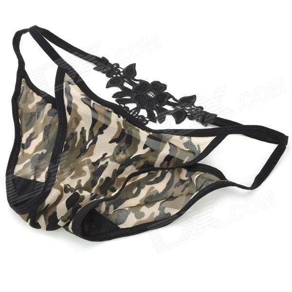 Fashion Sexy Mesh Women's Underwear - MultiCam