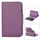 Bluetooth V3.0 59-Key Keyboard Case for Samsung Galaxy Tab T310 - Dark Purple