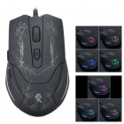 Genius USB 2.0 Wired 800/1600 / 2000dpi LED Optical Gaming Mouse - Svart