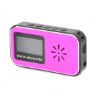 "KD-XINKUAN-DAIPING-01-HONGSE 1.1"" LCD MP3 Player w/ TF / Mini USB / 3.5mm Jack - Deep Pink + Black"
