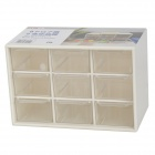 Mini PP Resin 9-Grid Storage Box - White