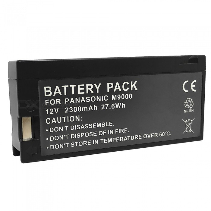 M9000 12V 2300mAh Replacement Battery for Panasonic VW-VBF2E / VBF2T / MV-M2400 / FZ2E + More vi 26h mv