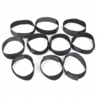 Magic Velcro Nylon Bundling Belt Strap - Black (10 PCS / 2 x 29cm)