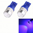 T10 3W 144lm 6 x SMD 5630 LED Blue Car Signal Light w/ Lens - (DC 12V / 2 PCS)