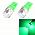 T10 3W 144lm 6 x SMD 5630 LED Green Car Signal Light w/ Lens - (DC 12V / 2 PCS)