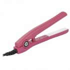 Mini Ceramic Hair Straightener Electric Splint - Purplish Red