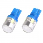 T10 3W 144lm 6 x SMD 5630 LED Ice Blue Car Signal Light w/ Lens - (DC 12V / 2 PCS)