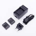PANNOVO AHDBT-301 1300mAh Battery + EU Plug Power Adapter + Car Charger for GoPro HD Hero 3/3+