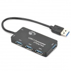 Super Speed USB 3.0 4-Port Hub - Black (5Gbps)