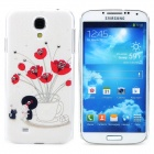 MGH-01 Rose Pattern Protective PVC Back Case for Samsung S4 i9500 - White + Red + Multicolored