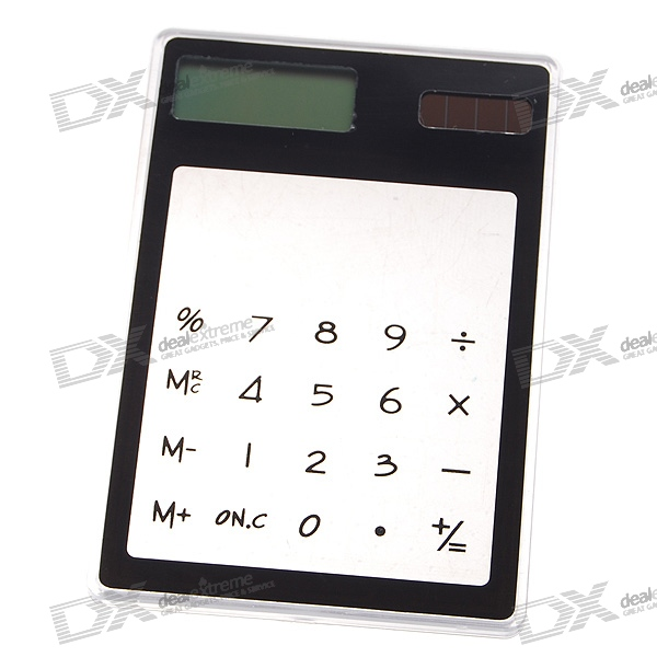 Portable 8-Digit Solar Power Hand Touch Calculator