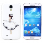 Little Girl Pattern Protective PVC Back Case for Samsung S4 i9500 - White + Black + Multicolored