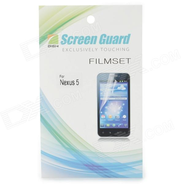 PET Screen Protector for LG Nexus 5 - Transparent high quality pet screen protector for lg nexus 5 transparent 30pcs