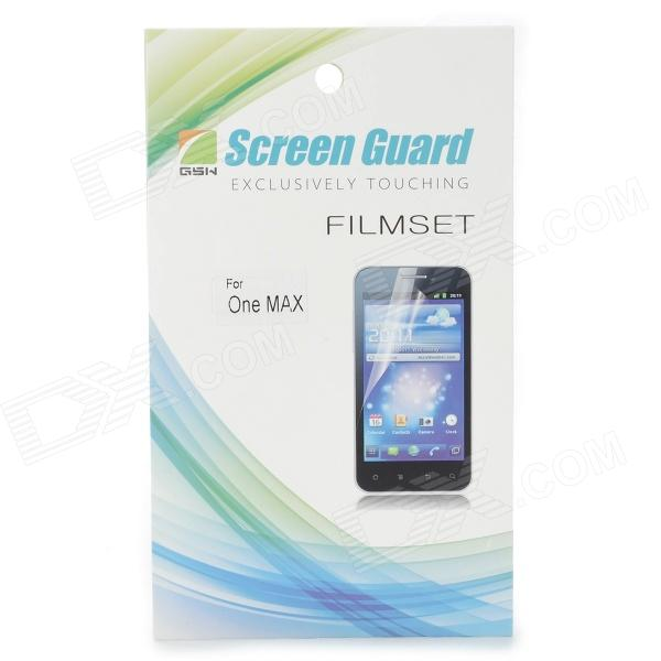 Clear Protective PET Screen Protector w/ Cleaning Cloth for HTC One Max - Transparent