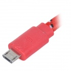 Micro USB Male to USB 2.0 Male Data / Sync Charging Nylon Cable for Samsung - Red (200 cm)