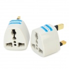 Travel UK Type Power Plug Adapter Outlet Converter Socket - Grey + Black (2 PCS)