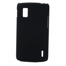 Protective ABS Back Case w/ PET Screen Protector for LG Nexus 4 / E960 - Black