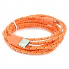 USB 2.0 to Micro USB Data/Charging Woven Cable for Samsung Galaxy Note P600 / Tab 3 - Orange (295CM)