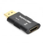 Displayport hann til HDMI Female Adapter - Svart + gylne