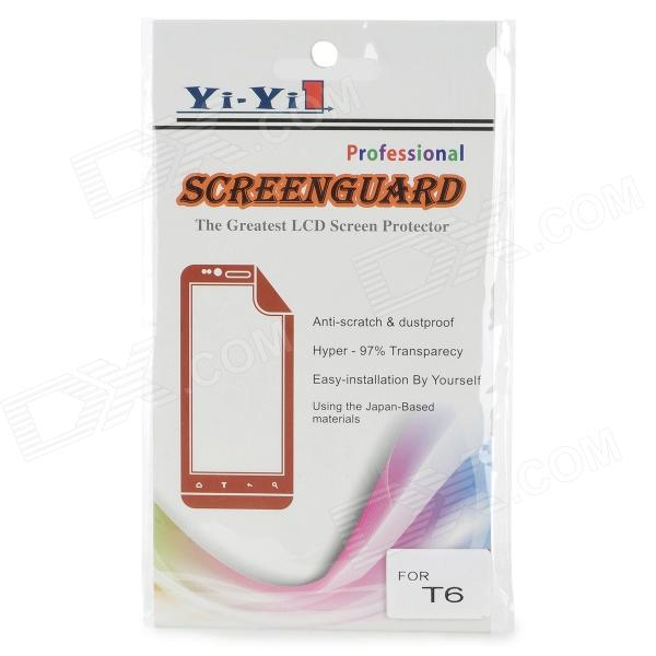 High Quality PET Screen Protector for HTC One MAX/T6 - Transaprent (5PCS)