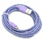 USB 2.0 to Micro USB Data/Charging Woven Cable for Samsung Galaxy Note P600 / Tab 3 - Purple (300CM)