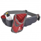 Hasky CY-2326 Sports Nylon Oxford Fabric Waistband Bag - Red + Grey