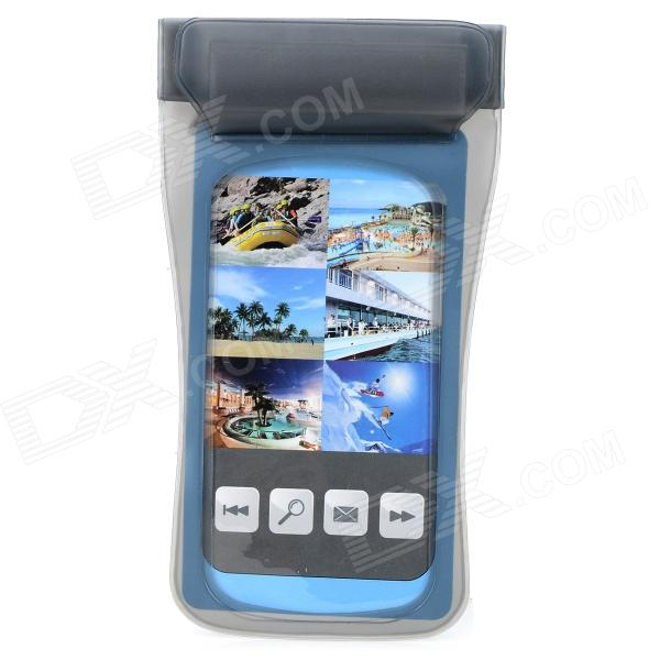 Waterproof Protective PVC Case w/ Strap for iPhone / Samsung 9100 / 9300 - Grey