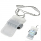 PVC Waterproof Protective Bag w/ Strap for iPhone / Samsung i9100 / Samsung i9300 - White