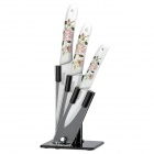 "Bestlead 4"" / 5"" / 6"" Ceramics Knife Set - White + Green + Multi-Colored"