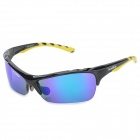 KLLO 99150 Outdoor Multi-Function Sports UV400 Protection Blue Lens Sunglasses - Black