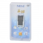 MSI M-03 Rider Aluminum Alloy Water Resistant Rotary USB 2.0 Flash Drive - Black + Silver (32GB)