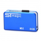 STmagic MD2 Aluminum Alloy + Plastic USB 2.0 Flash Drive - Sapphire Blue (8GB)