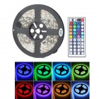 JRLED 60W 4000lm 300-5050 SMD LED RGB Light Strip w/ 44-Key IR Remote Control - White + Black (5m)