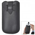 Protective Universal PU Leather Buckle Strap Pouch for Samsung i9300 + More - Black