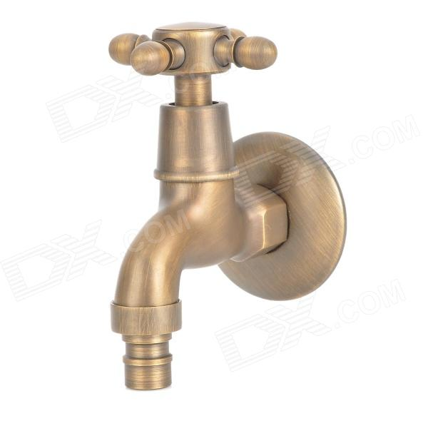 PHASAT 4409 Retro Brass Washing Machine Faucet - Antique Brass