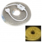 JRLED Waterproof 24W 1000lm 3300K 300-3528 SMD LED Warm White Strip - White (AC 220V / 5m)