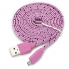 USB Male to Micro USB Male Charging/Data Sync Cable for Samsung S3 i9300 + More - Pink (200cm)