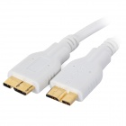 Micro USB Male to USB 3.0 Male OTG Data Cable for Samsung Galaxy Note 3 - White (50 cm)