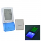 2030 Professional Wireless Thermo Monitor & Tooth Brush Sanitizer with UV - White + Light Blue