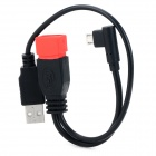 Micro 5pin / USB OTG Charging / Data Cable for Samsung / Xiaomi + More - Black + Red (10cm / 27cm)