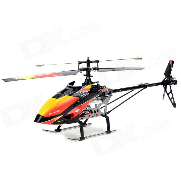 WLtoys V913 AC Rechargeable 4-CH Gyro R/C Helicopter w/ Radio Remote Controller - Orange + Black wltoys v915 4 ch 2 4ghz radio control r c helicopter toy yellow 4 x aa