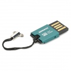 Card Reader 2.0 TF KINGMAX Mini USB - Preto + Azul Turquesa