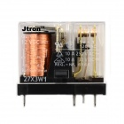 Jtron 5-pin Relay / Double Pole Double Throw - Transparent + Black + Copper (12V / 10A)