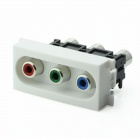 Losiya K86-816 RGB Video RCA In-line Module for 86 Panel - White