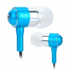 Nightwish N1 Aluminum Alloy In-Ear Earphones -Silver + Blue (3.5mm Plug / 120cm-Cable)