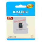 KALIKE MicroSD / TransFlash TF Memory Card - Black (32GB / Class 4)