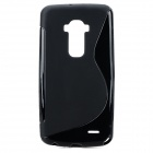S Pattern Protective TPU Back Case for LG G-Flex - Black