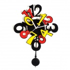 YKL020 Acrylic Quartz Swing Wall Clock - Black + Red (1 x AA)