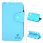 Stylish Flip-Open PU Leather Case w/ Stand / Strap for LG Nexus 5 - Sky Blue